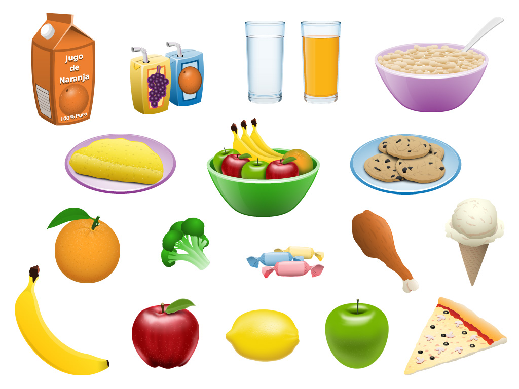 Go Math Production Graphics Food Items