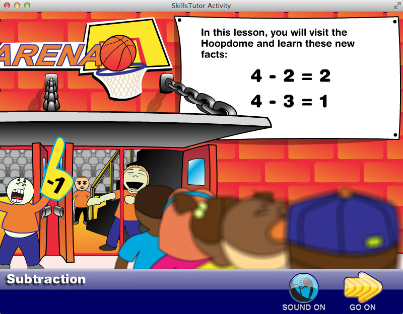 Math Fact Fluency Basketball Game Scene Intro