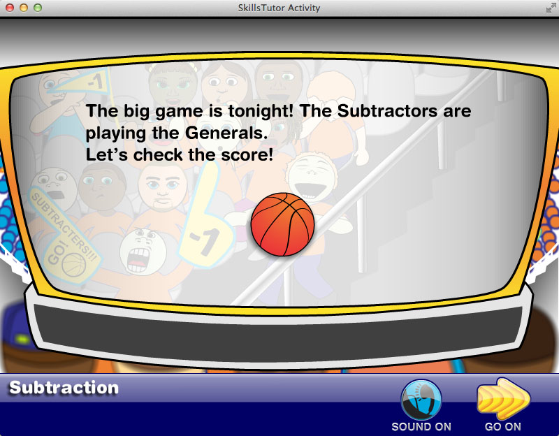 Math Fact Fluency Basketball Game Scene Facts Explanation