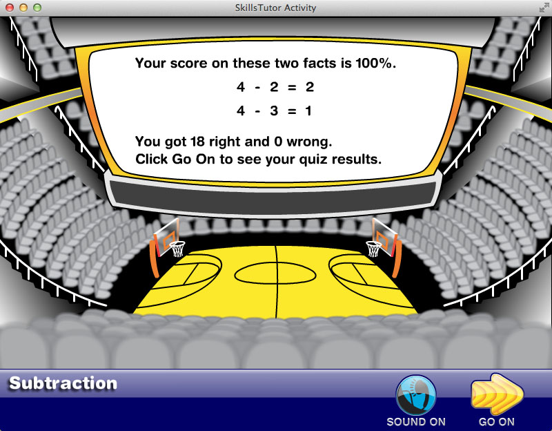Math Fact Fluency Basketball Game Scene Closing