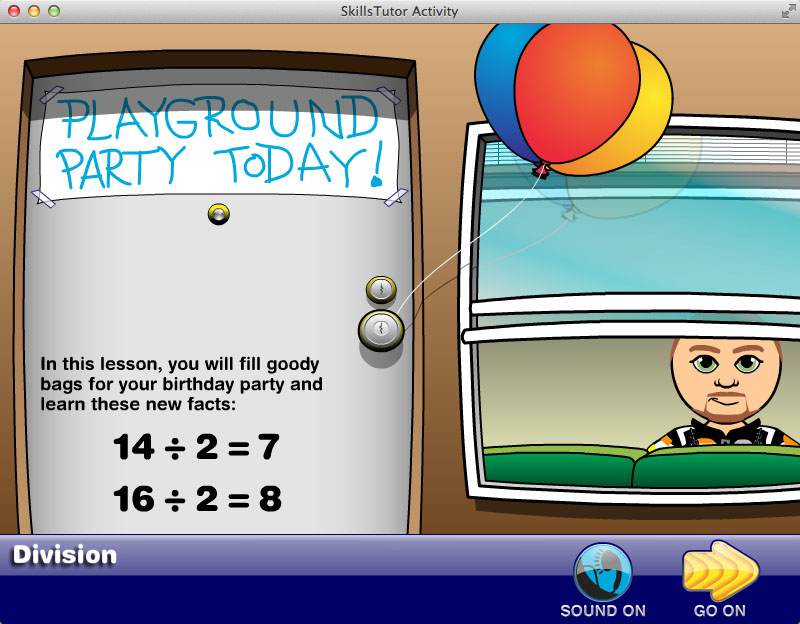 Math Fact Fluency Birthday Party Scene Intro