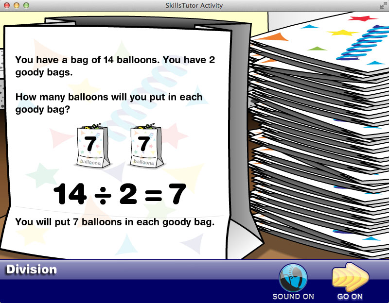Math Fact Fluency Birthday Party Scene Facts Explanation