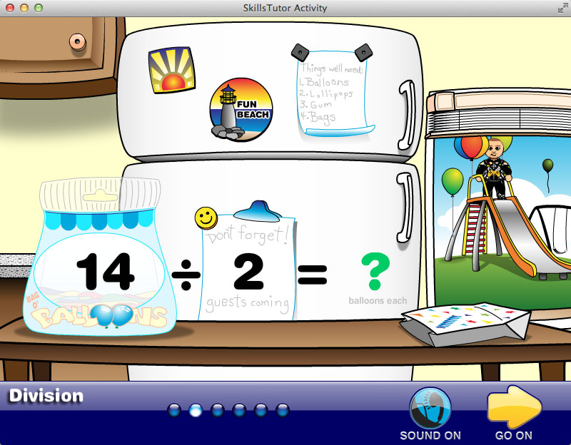 Math Fact Fluency Birthday Party Scene Practice