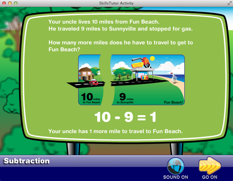 Math Fact Fluency Beach Car Trip Scene Facts Explanation