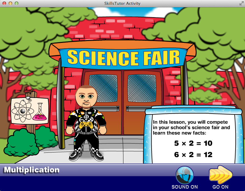 Math Fact Fluency Science Fair Scene Intro