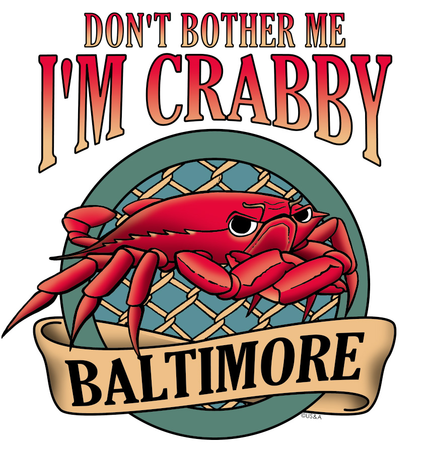 Don't Bother Me, I'm Crabby New Design